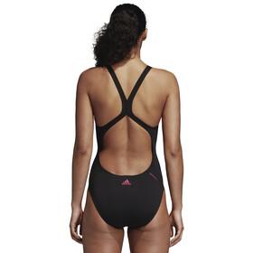 adidas Athletic Tape Swimsuit Women Black/Shock PInk